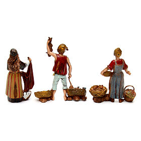 Neapolitan customs and trades, 3 nativity figurine, 10cm Moranduzzo s5
