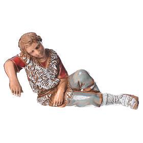 Shepherd sleeping, nativity figurine, 10cm Moranduzzo s1