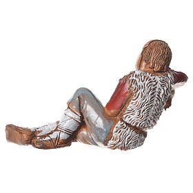 Shepherd sleeping, nativity figurine, 10cm Moranduzzo s2