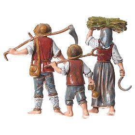 Familia campesina 3 figuras 10 cm Moranduzzo s2