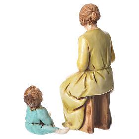 Donna che rammenda e bimbo 10 cm Moranduzzo s2