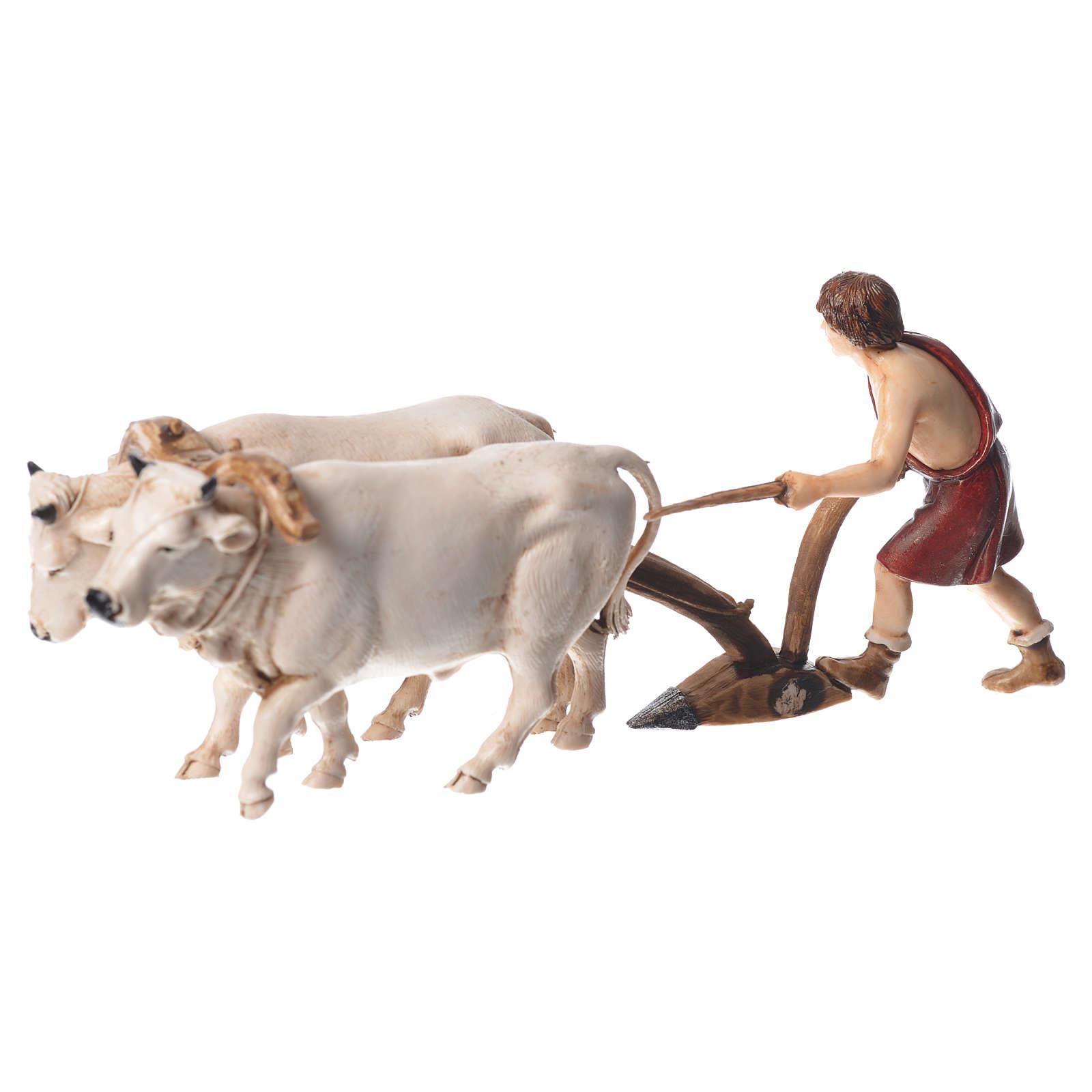 Group with plough, nativity figurines, 10cm Moranduzzo 4
