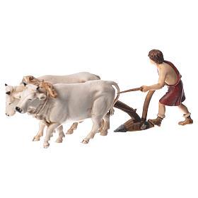 Group with plough, nativity figurines, 10cm Moranduzzo s2