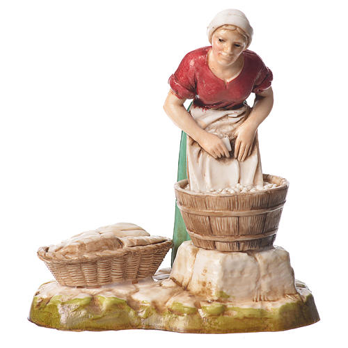 Women and trades 4 nativity figurines, 10cm Moranduzzo 2