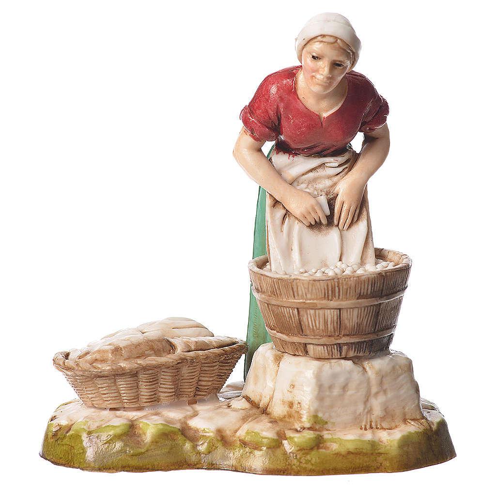 Women and trades 4 nativity figurines, 10cm Moranduzzo 4