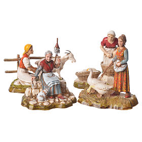 Women and trades 4 nativity figurines, 10cm Moranduzzo s6