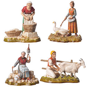 Women and trades 4 nativity figurines, 10cm Moranduzzo s1