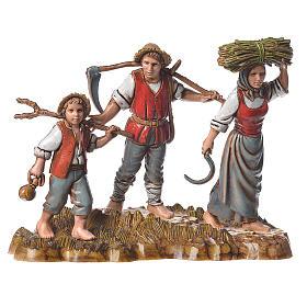 Groupe 6 santons 10 cm Moranduzzo s2