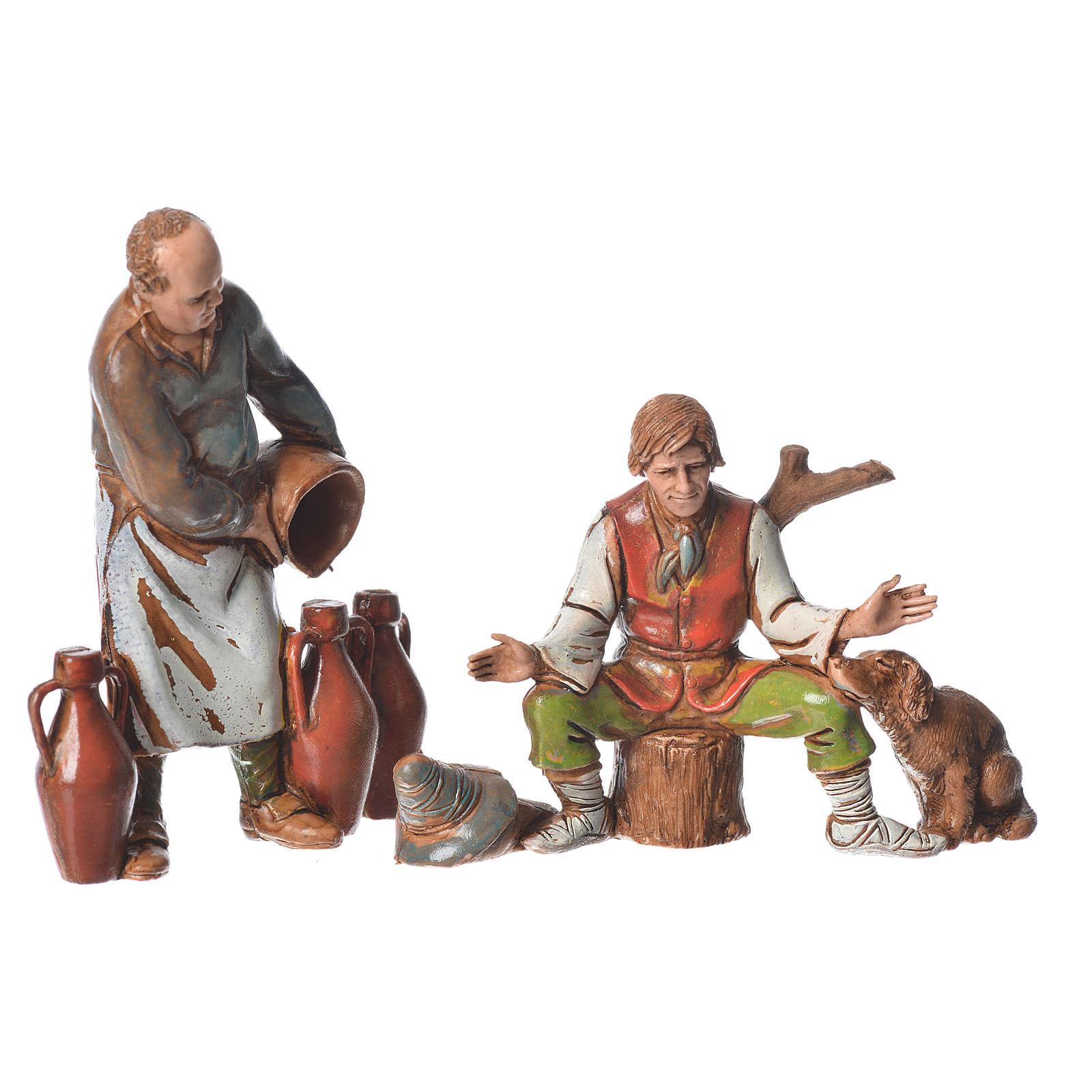 Pastores estilo napolitano Moranduzzo 10 cm 6 piezas 4