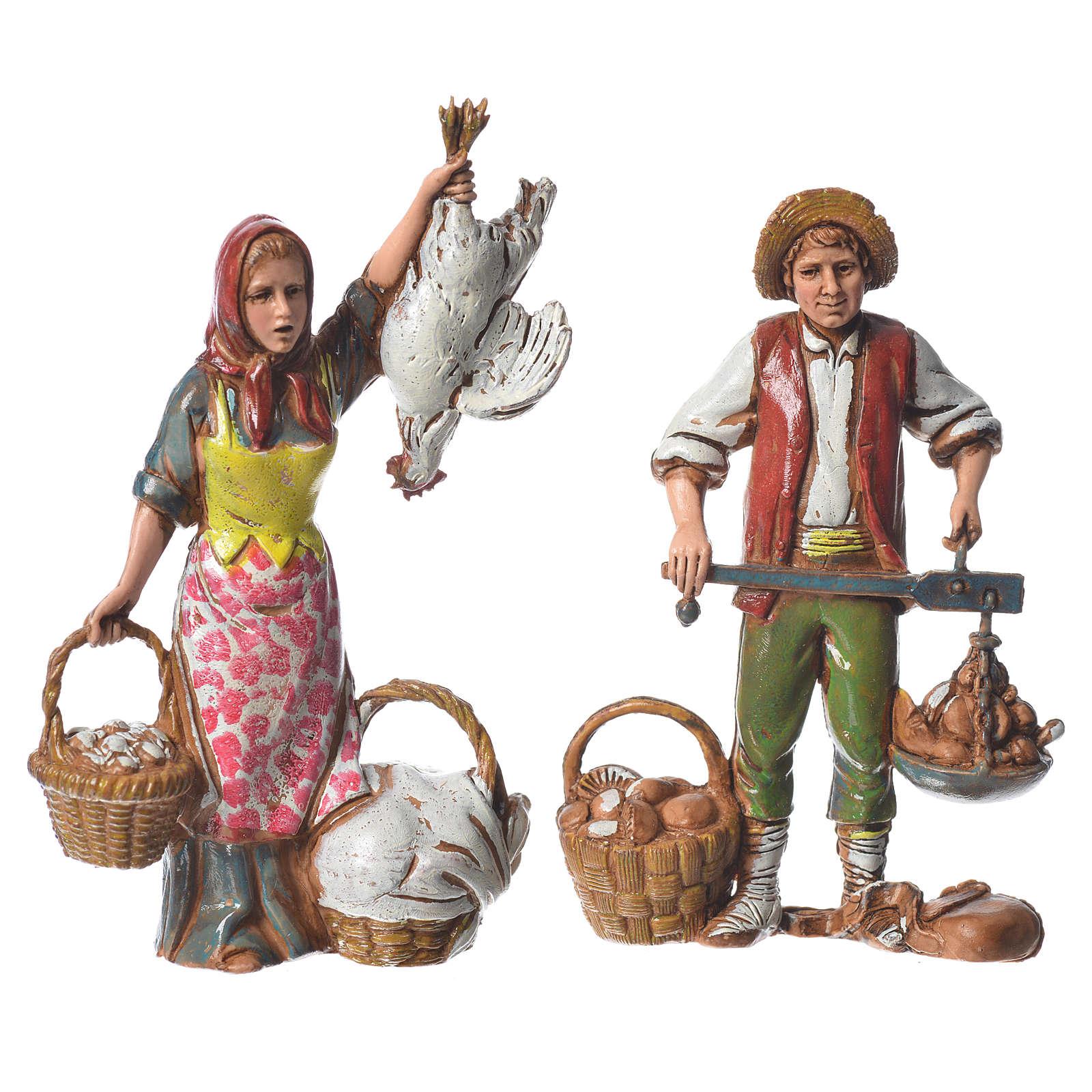Pastori costumi napoletani Moranduzzo 10 cm 6pz 4