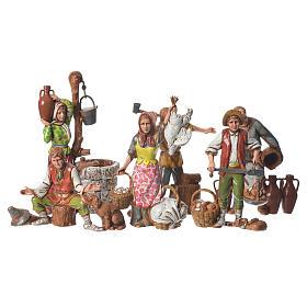 Presépio Moranduzzo: Pastores costumes napolitanos Moranduzzo 10 cm 6 peças