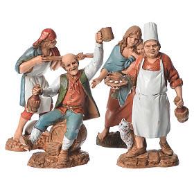 Belén Moranduzzo: Pastores 4 figuras 10 cm Moranduzzo