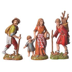 Shepherds, classic colours, 8 nativity figurines, 10cm Moranduzzo s8
