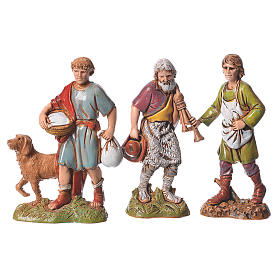 Shepherds, classic colours, 8 nativity figurines, 10cm Moranduzzo s4
