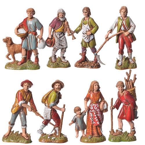 Pastores 10 cm cores clássicas 8 peças Moranduzzo 1