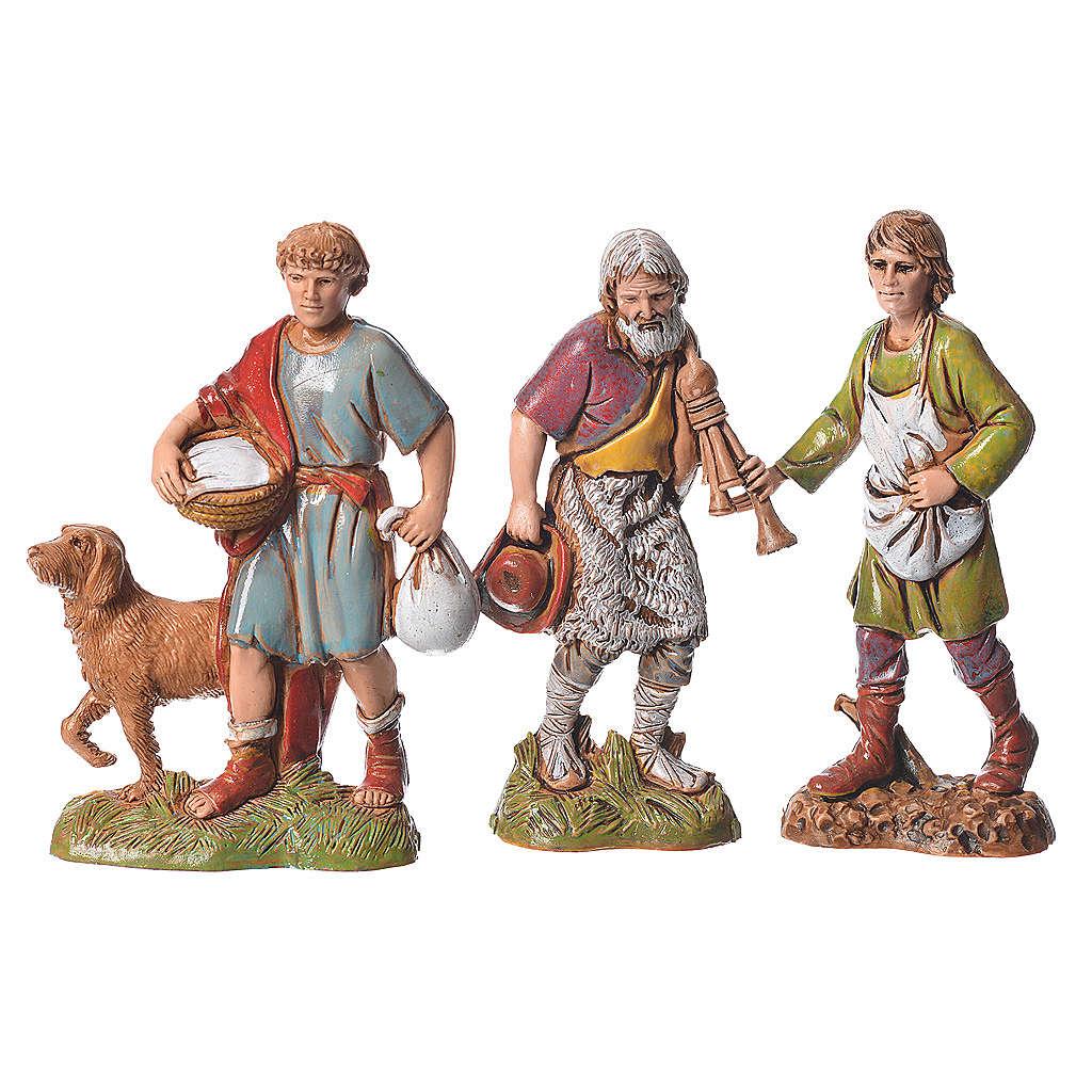 Shepherds, classic colours, 8 nativity figurines, 10cm Moranduzzo 4