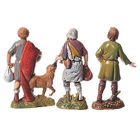 Shepherds, classic colours, 8 nativity figurines, 10cm Moranduzzo s5