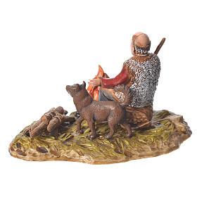 Man with fire nativity figurine, 10cm Moranduzzo s2