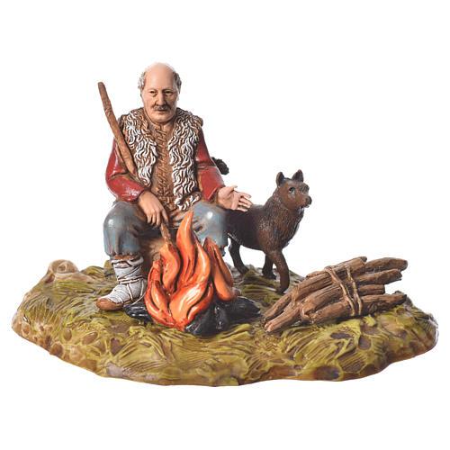 Man with fire nativity figurine, 10cm Moranduzzo 1