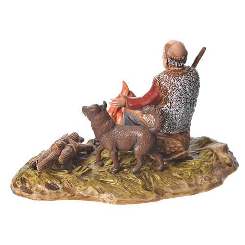 Man with fire nativity figurine, 10cm Moranduzzo 2