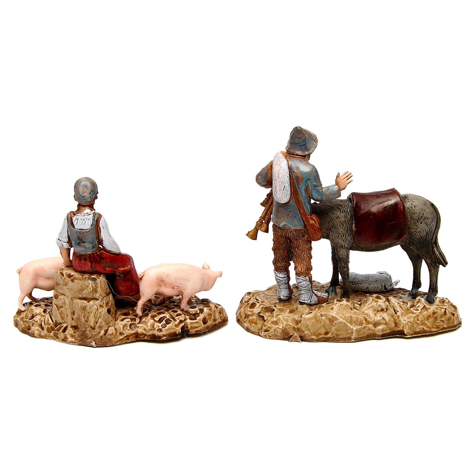 Grupo con animales 10 cm Moranduzzo 2 figuras 4