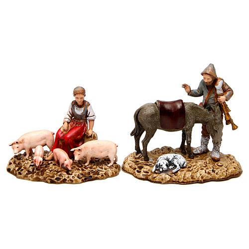 Grupo con animales 10 cm Moranduzzo 2 figuras 1