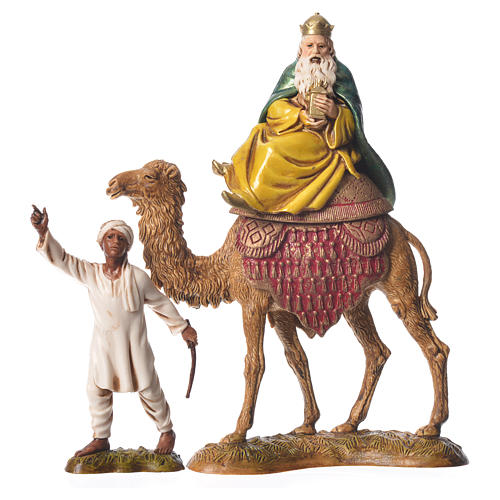 Wise men and camels nativity figurines 6 pieces, 10cm Moranduzzo 2
