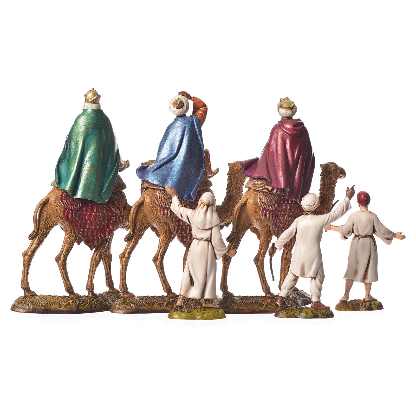 Wise men and camels nativity figurines 6 pieces, 10cm Moranduzzo 4