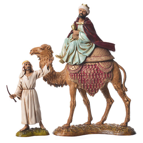 Wise men and camels nativity figurines 6 pieces, 10cm Moranduzzo 3