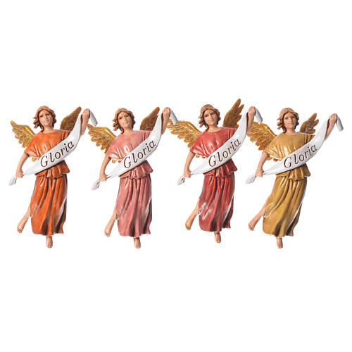 Nativity figurines, angels in glory by Moranduzzo 10cm, 4 pieces 3