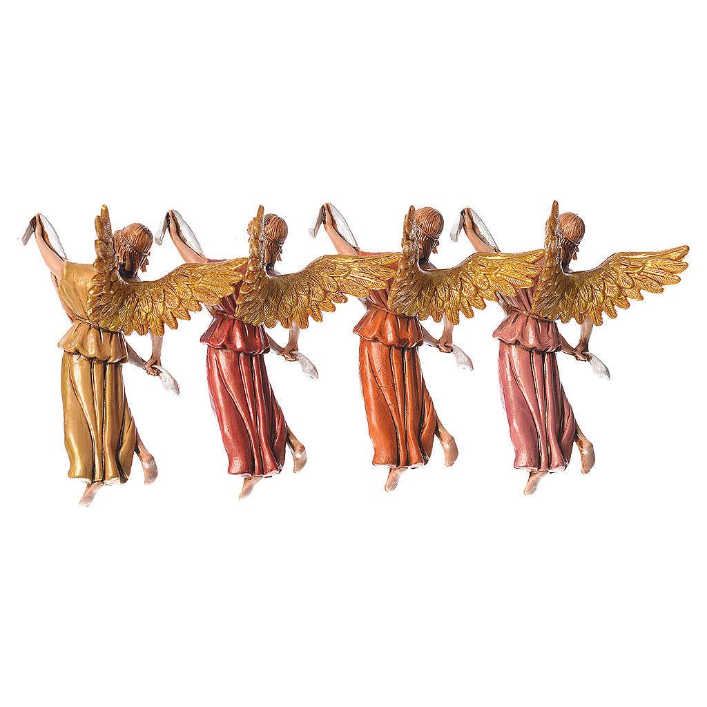 Nativity figurines, angels in glory by Moranduzzo 10cm, 4 pieces 4