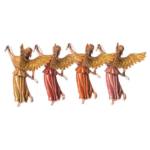 Nativity figurines, angels in glory by Moranduzzo 10cm, 4 pieces 4