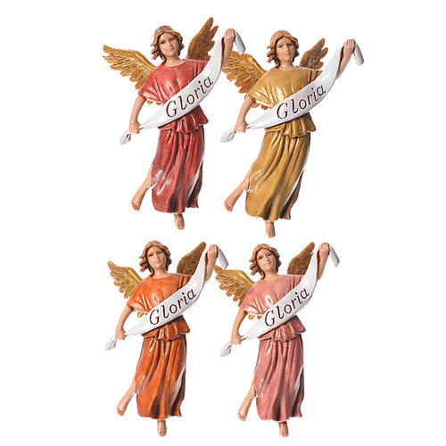 Nativity figurines, angels in glory by Moranduzzo 10cm, 4 pieces 1