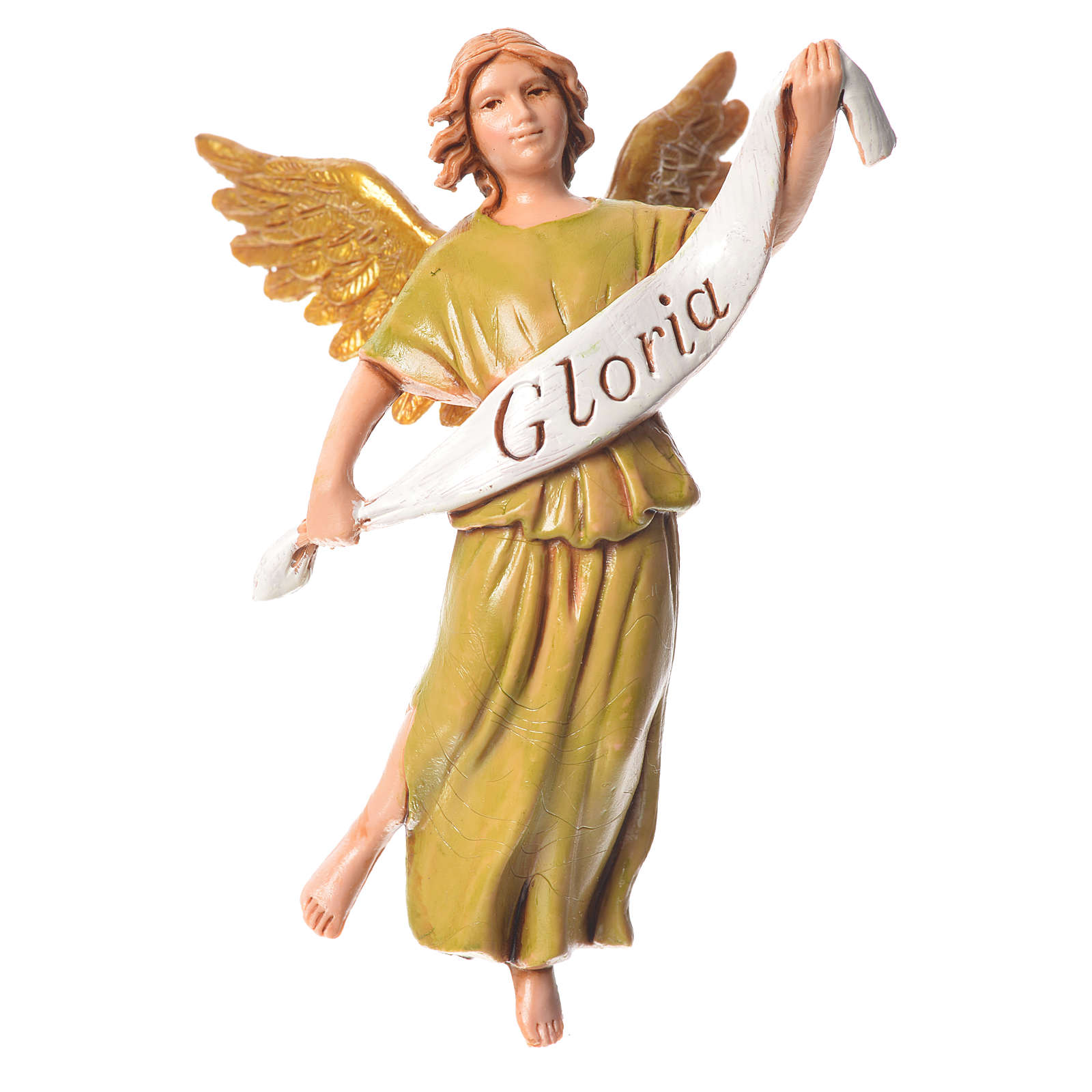 Nativity figurine, angel in glory by Moranduzzo 10cm 4