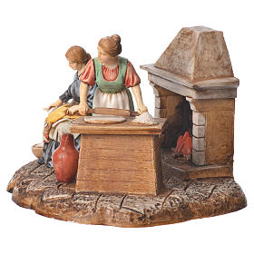 Kitchen nativity figurines 10cm Moranduzzo s2