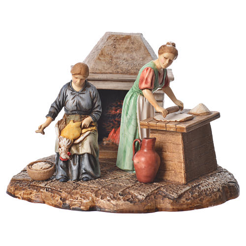 Kitchen nativity figurines 10cm Moranduzzo 1