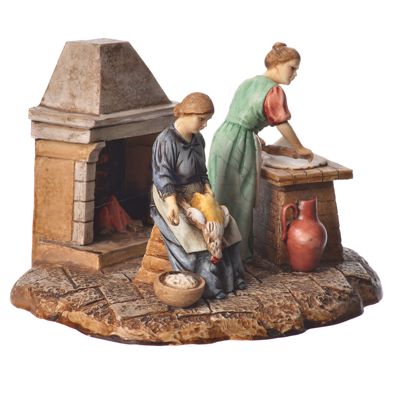 Kitchen nativity figurines 10cm Moranduzzo 4