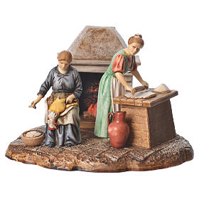 Kitchen nativity figurines 10cm Moranduzzo s1