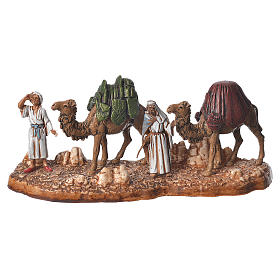 Composition of nativity figurines, 4pieces, 6cm Moranduzzo s5