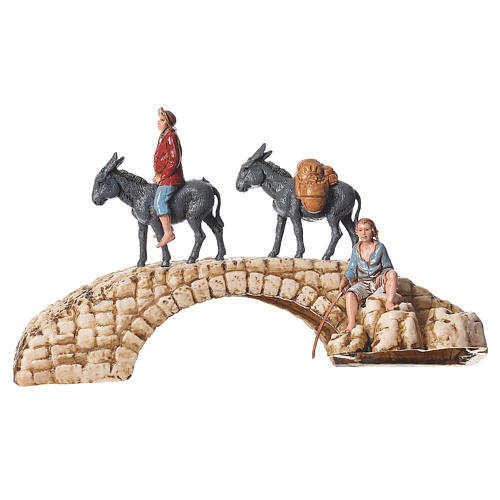 Composition of nativity figurines, 4pieces, 6cm Moranduzzo 2