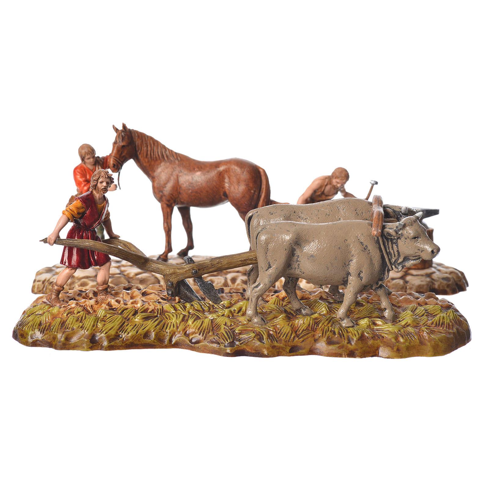 Farmers figurines 6cm, Moranduzzo, 2 pcs 4