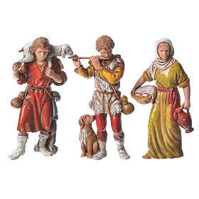 Pastores presépio Moranduzzo com figuras de  altura média 8 cm 6 peças s2