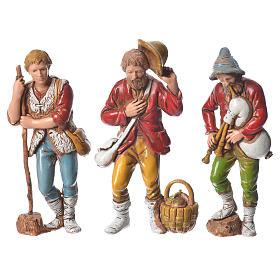 Pastores presépio Moranduzzo com figuras de  altura média 8 cm 6 peças s3