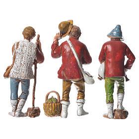 Pastores presépio Moranduzzo com figuras de  altura média 8 cm 6 peças s4