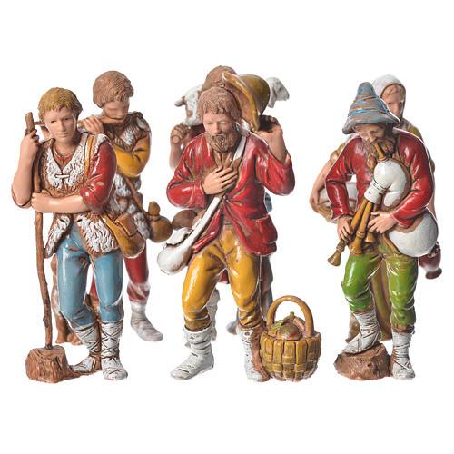 Pastores presépio Moranduzzo com figuras de  altura média 8 cm 6 peças 1