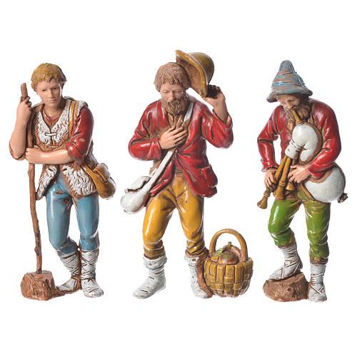 Pastores presépio Moranduzzo com figuras de  altura média 8 cm 6 peças 3