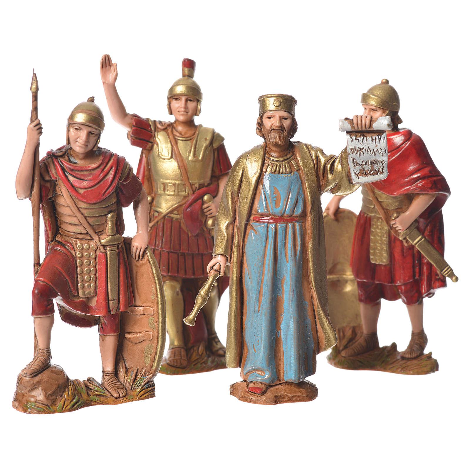 Rei Herodes com soldados 8 cm Moranduzzo 4