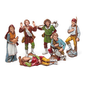 Shepherds figurines 8cm by Moranduzzo, 6pcs s1