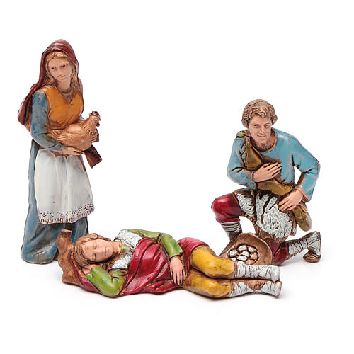 Shepherds figurines 8cm by Moranduzzo, 6pcs 2