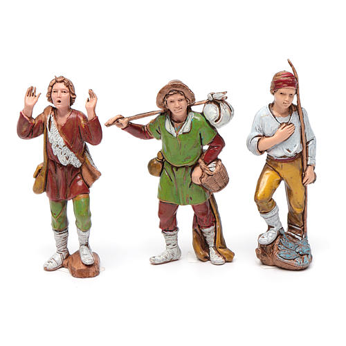 Shepherds figurines 8cm by Moranduzzo, 6pcs 3